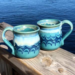 Unity Pond Pottery Mug - Peacock Glaze
