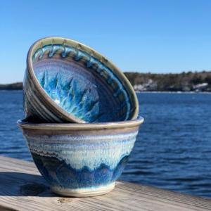 Noodle Bowl in Fred's Glaze by Unity Pond Pottery