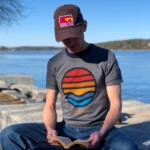 Grey Ocean View T-Shirt