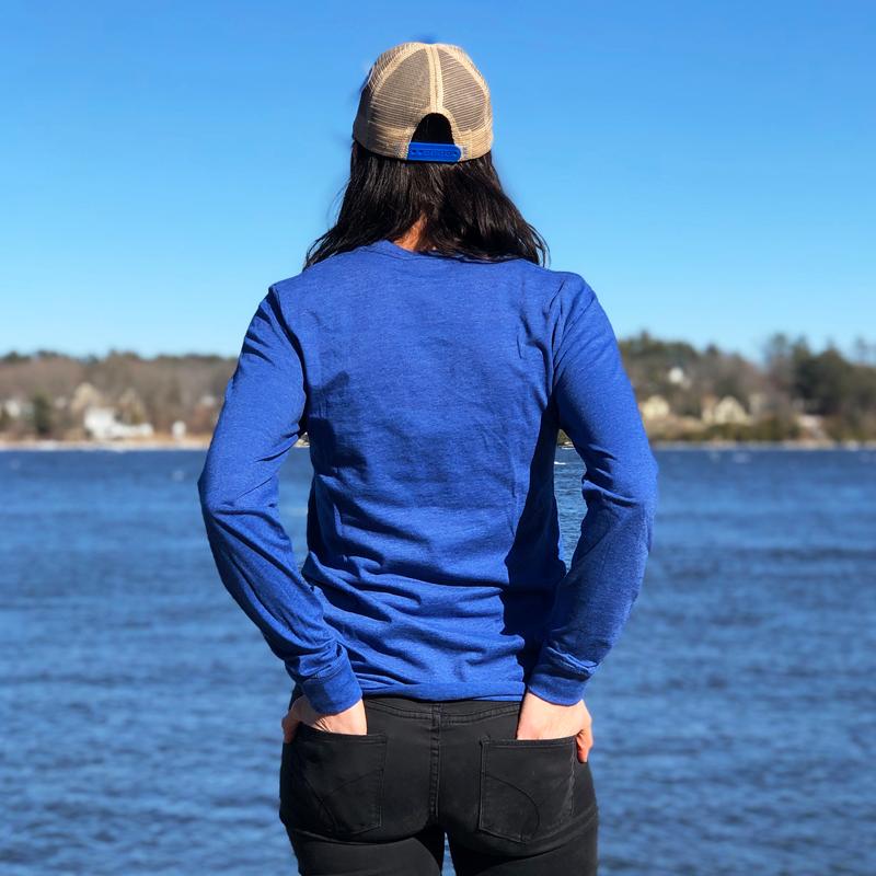 Blue MAINE Long Sleeved Shirt