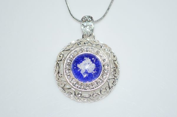 Cremation Jewelry - Large Fancy Pendant