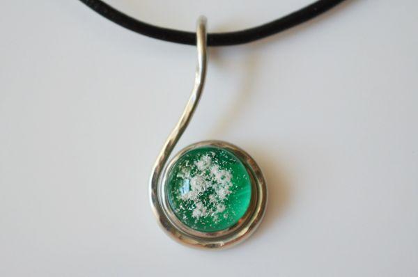 Cremation Jewelry - Small Swirl Pendant