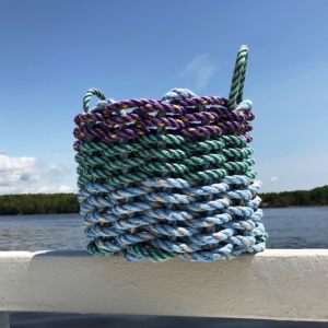 Purple Green Blue Lobster Rope Basket