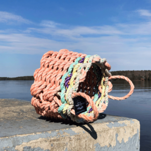 Poppin' Peach Lobster Rope Basket