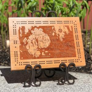 Mount Desert Island Cribbage Board