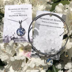 Bluebell & Peony Flower Petal Jewelry