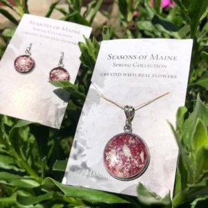 Peony & Geranium Flower Petal Jewelry