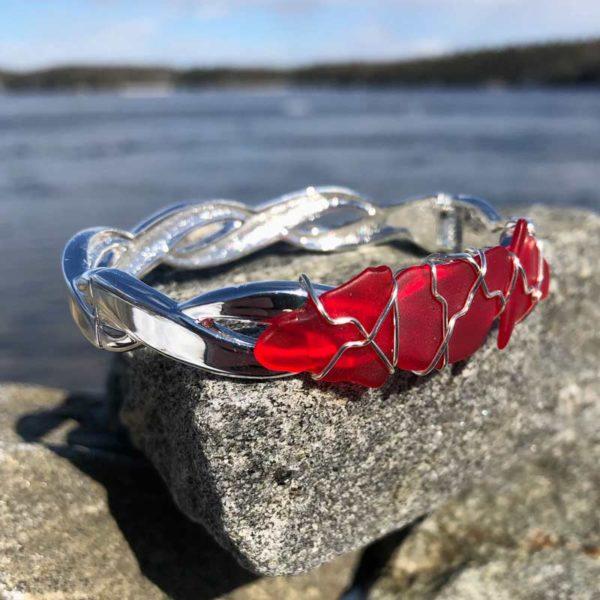 Red Sea Glass Bracelet