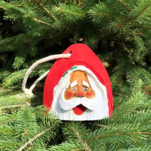 Mini Hand Carved Santa Buoy Red