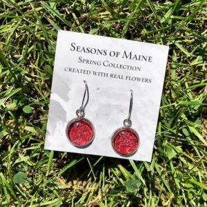 Begonia Flower Petal Earrings