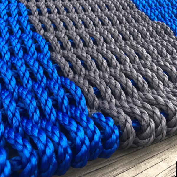 Blue & Charcoal Lobster Rope Doormat
