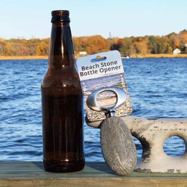 Beach Stone Bottle Opener
