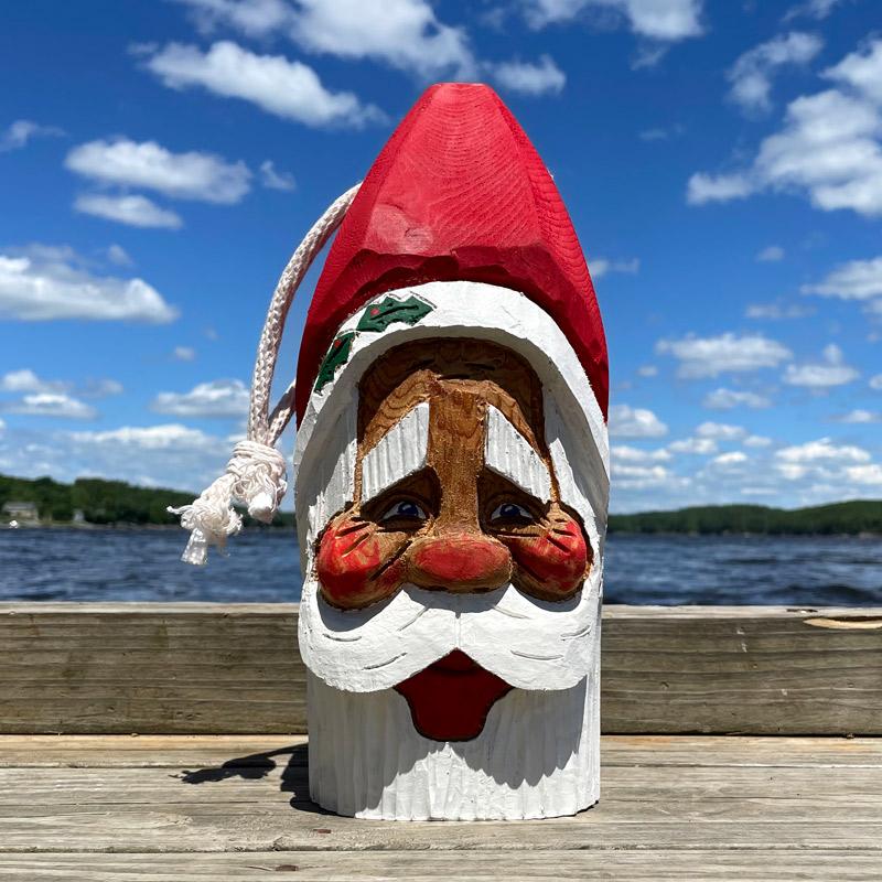 Hand Carved Santa Buoy #9