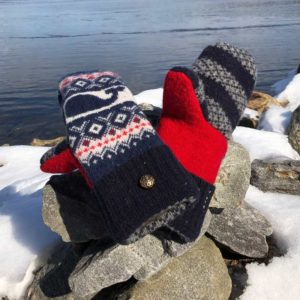 Whale Sweater Mittens