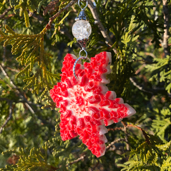 Lobster Shell Snowflake Ornament