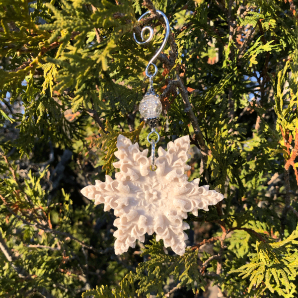 Oyster Shell Snowflake Ornament