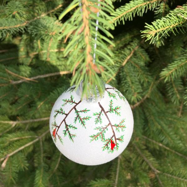 Cardinals Snowball Ornament
