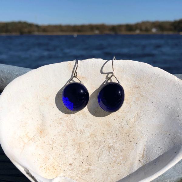 Cobalt Blue Glass Earrings