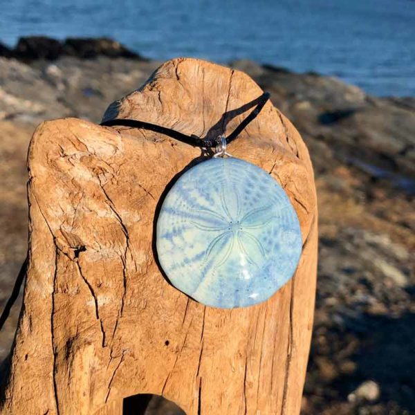 Denim Sand Dollar Necklace