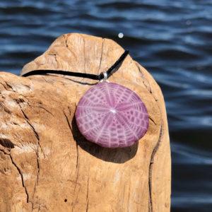 Amethyst Sand Dollar Necklace