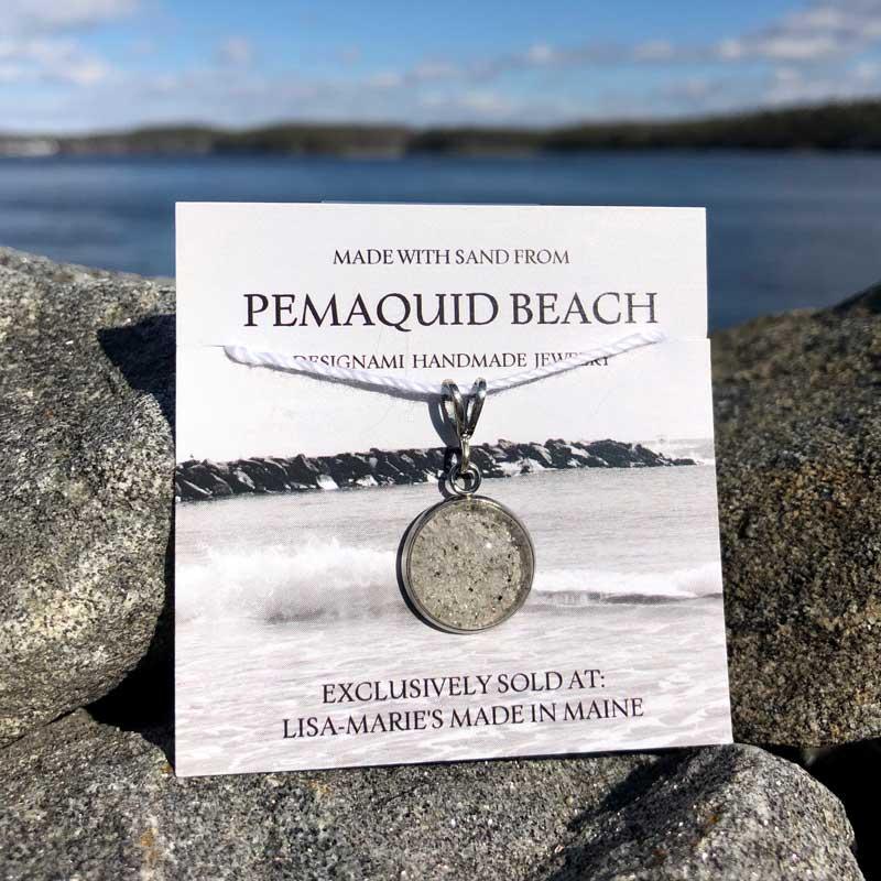 Pemaquid Beach Small Pendant   Beach Sand