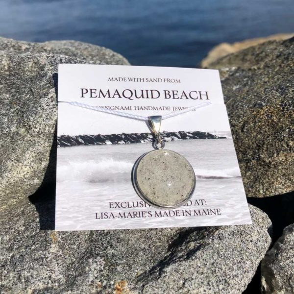 Pemaquid Beach Large Pendant | Beach Sand