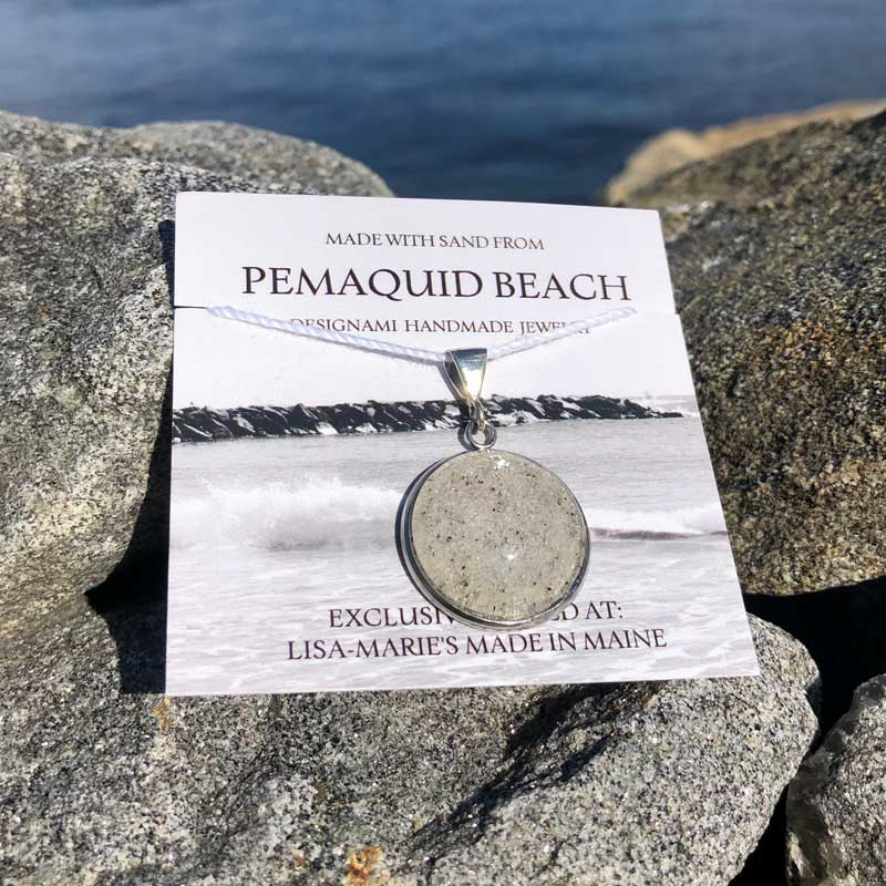 Pemaquid Beach Large Pendant   Beach Sand