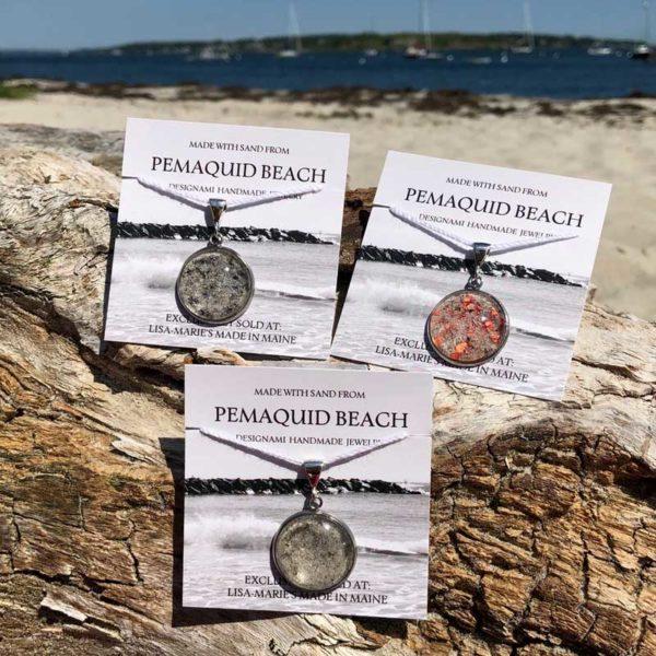Pemaquid Beach Large Pendant | Beach Sand, Lobster Shell, Mussel Shell