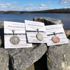 Pemaquid Beach Large Pendant | Beach Sand, Lobster Shell, Mussel Shell