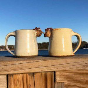 Chicken Mugs by Westport Island Pottery