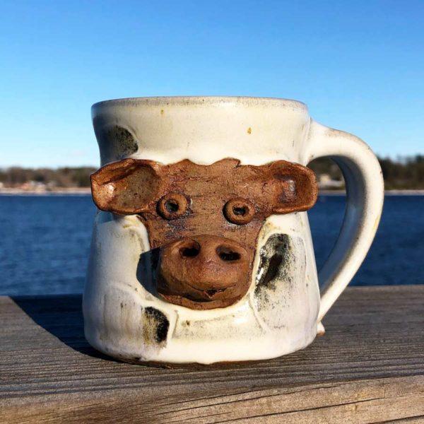 Cow Mug 2 by Westport Island Pottery