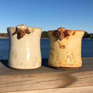 Sheep Mugs by Westport Island Pottery