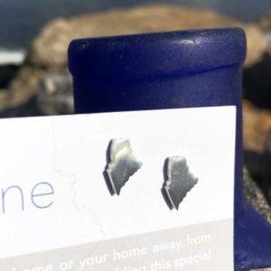 Sterling Silver Mini Maine Earrings