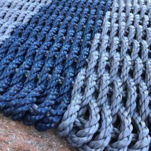 Charcoal & Navy Lobster Rope Doormat