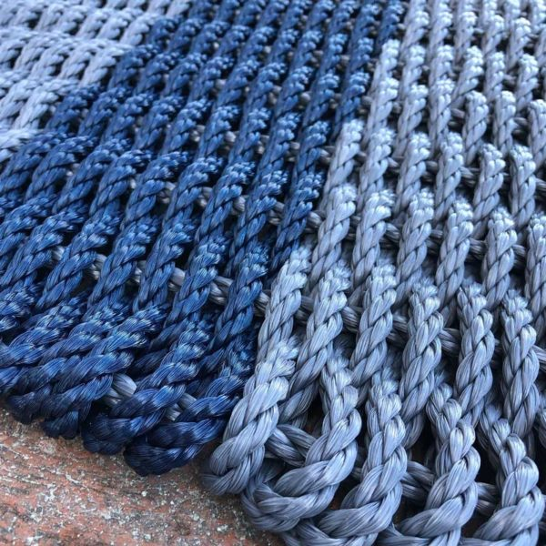 Charcoal & Navy Lobster Rope Doormat