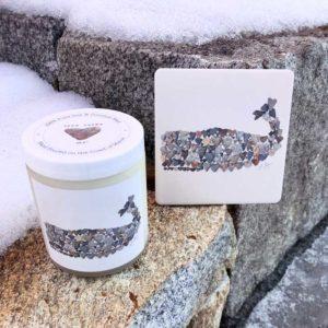 Love Rocks ME Whale Candle & Whale Coaster