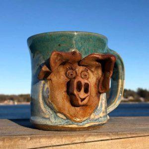 Pig Mug 2 by Westport Island Pottery