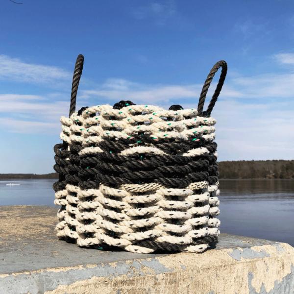 Black & White Lobster Rope Basket