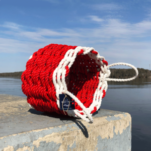 Red & White Lobster Rope Basket