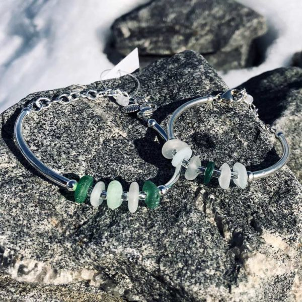 Sea Glass Adjustable Link Bracelet