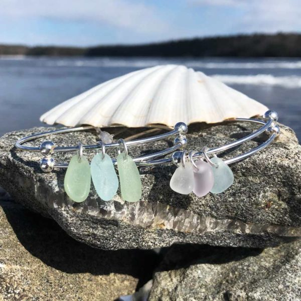 Expandable Sea Glass Bracelet