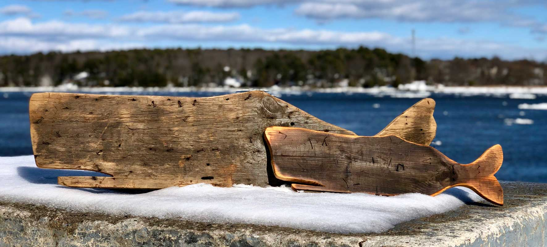 Recycled Barnwood Whales