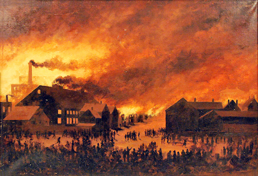 The Great Fire, Portland, 1866