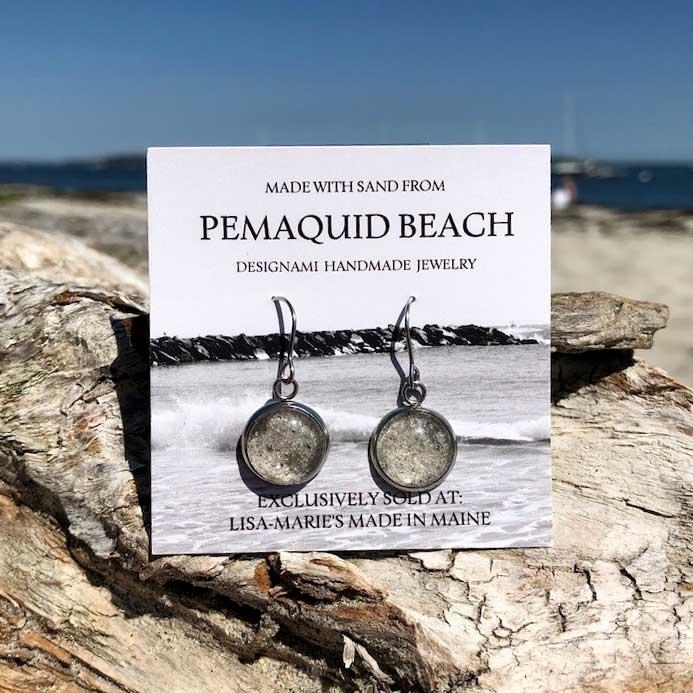 Pemaquid Beach Sand Earrings