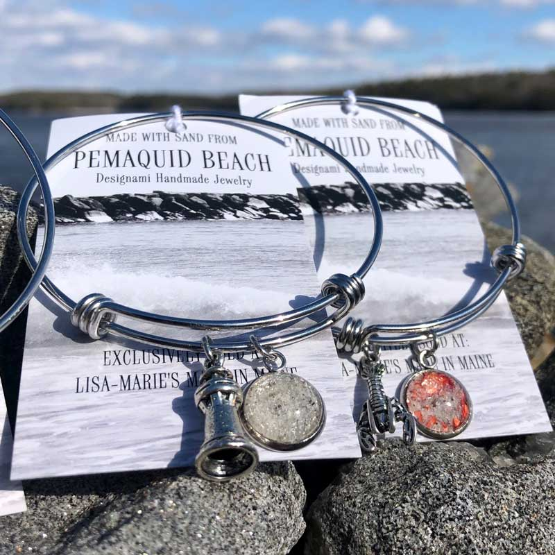 Pemaquid Beach Sand Bangle Bracelet