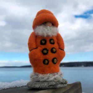 Orange Felted Fisherman