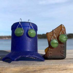 Fern Glass Earrings