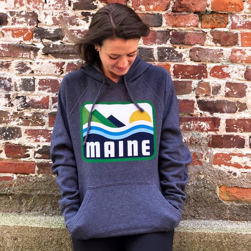 Grey, Patamainia, Maine Hoodie.