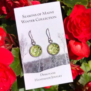 Peony & Holly Leaf Earrings