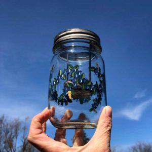 Blueberry, Tea Light, Mason Jar.